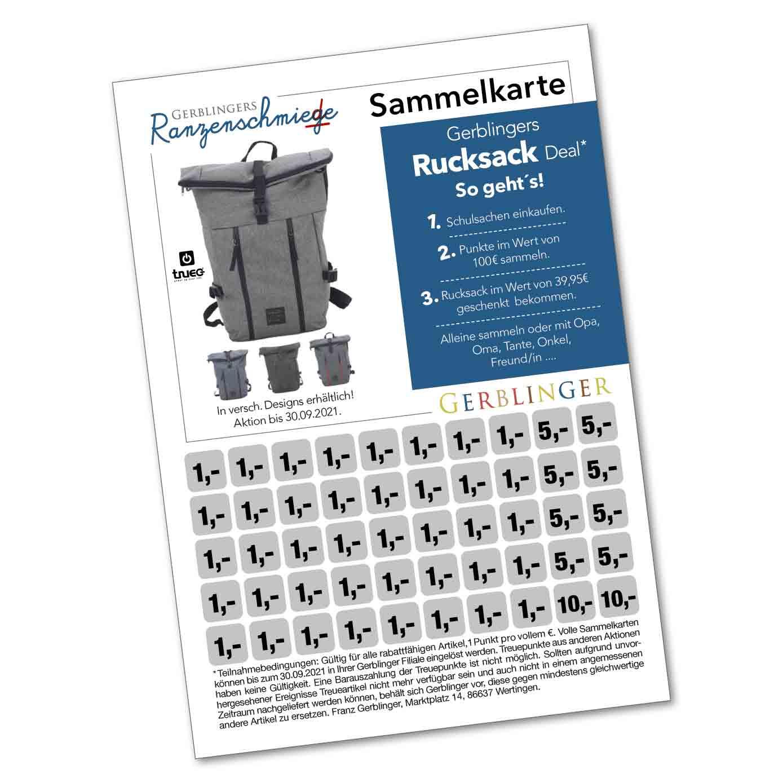 Rucksack Deal Sammelkarte
